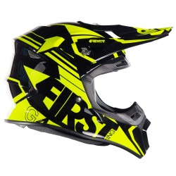 Casque G4 FIRSTRACING Fibre - Noir / Jaune fluo