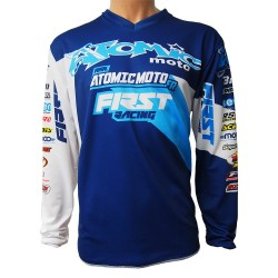 Maillot ATOMIC DATA 2018 FIRSTRACING - Marine / Bleu