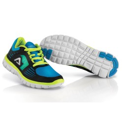 Chaussures running corporate ACERBIS - Bleu Blanc Jaune