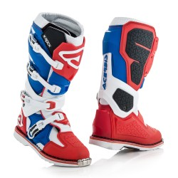 Bottes ACERBIS X-ROCK - Bleu / Blanc / Rouge
