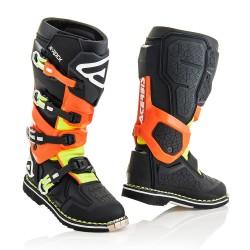 Bottes ACERBIS X-ROCK - Noir / Orange fluo / Jaune