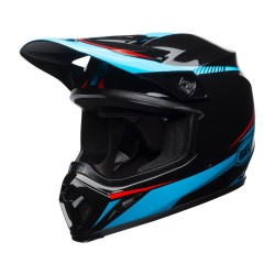 Casque BELL MX-9 Torch - Noir / Cyan / Rouge