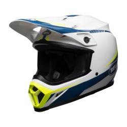 Casque BELL MX-9 Torch - Blanc / Bleu / Jaune