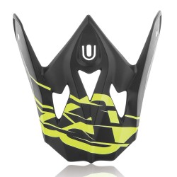 Visière casque ACERBIS IMPACT 3.0 - Noir / Jaune fluo