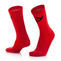 Chaussettes coton hautes ACERBIS - Rouge