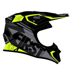 Casque G4 Fibre V2 FIRSTRACING - Gris / Fluo