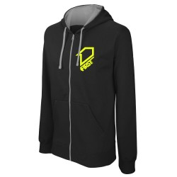 Sweat zippé à capuche Classic FIRSTRACING - Noir / Fluo