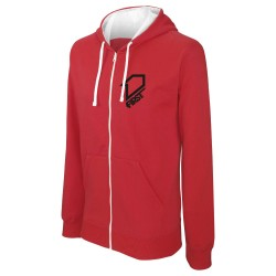 Sweat zippé à capuche Classic FIRSTRACING - Rouge / Noir