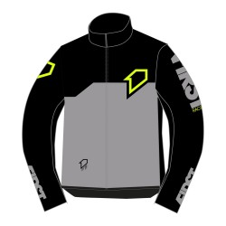 Casaque R-Evo FIRSTRACING - Noir / Gris / Fluo