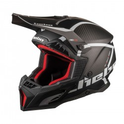 Casque HEBO Legend Carbone - Noir / Blanc