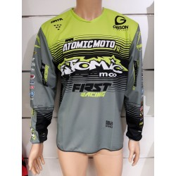 Maillot Atomic DATA ST 2019 - Gris / Fluo