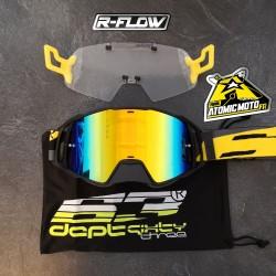 Masque DEPT63 Noir mat / Jaune + Kit R-FLOW coloris au choix