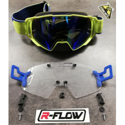 Masque DEPT63 Jaune fluo / bleu + Kit R-FLOW coloris au choix