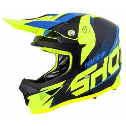 Casque SHOT FURIOUS Ultimate - Bleu Néon Jaune
