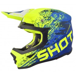 Casque SHOT FURIOUS Counter - Bleu Néon Jaune mat
