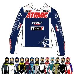 Maillot Atomic RIDE perso NOM + NUMERO + SPONSORS - 14 coloris au choix