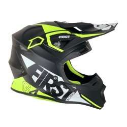 Casque FIRSTRACING G4 fibre V2.1 - Noir / Blanc / Fluo