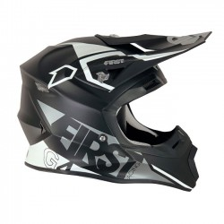Casque FIRSTRACING G4 fibre V2.1 - Noir / Silver / Blanc