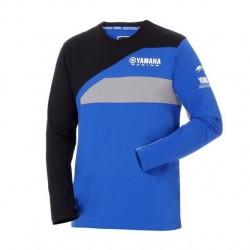 T-shirt manches longues YAMAHA Team Paddock Homme - Bleu