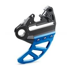 Support d'étrier de frein avec protection de disque de frein