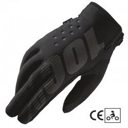 Gants 100% Brisker CE - Noir / Gris
