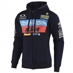 Sweat zippé à capuche team KTM TLD - Marine