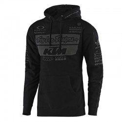 Sweat à capuche team KTM TLD - Noir/Gris
