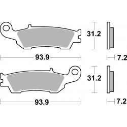 Plaquettes de freinSBS 840CS