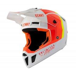 Casque KENNY Performance Blanc - Rouge - Orange