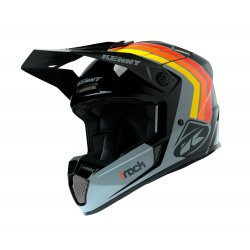 Casque KENNY Track Victory - Noir - Gris - Orange