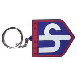 Porte-clef UP Design anneau bleu et rouge
