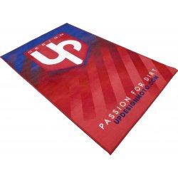 Tapis environnemental UP Design moto rouge et bleu