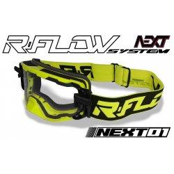 Masque R-FLOW NEXT 01 Jaune fluo / Noir - Full pack