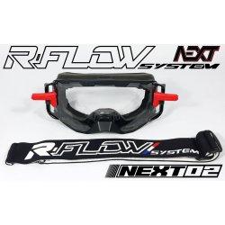 Masque R-FLOW NEXT 02 Noir / Blanc / Rouge - Full pack