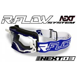 Masque R-FLOW NEXT 03 Bleu / Blanc - Full pack