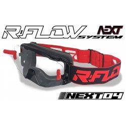 Masque R-FLOW NEXT 04 Noir / Rouge - Full pack