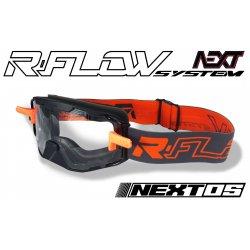 Masque R-FLOW NEXT 05 Noir / Orange - Full pack