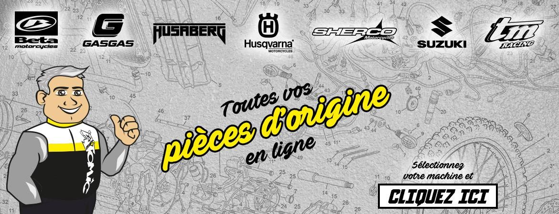Vos pièces d'origines Beta, GasGas, Husaberg, Husqvarna, Sherco, Suzuki et TM Racing sont disponibles chez sur atomicmoto.fr